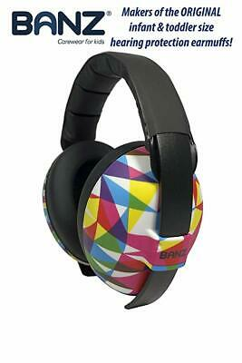 Banz Baby Hearing Protection Earmuffs ,Geo Print (BNIB) Sealed.