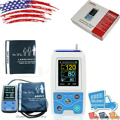 24h NIBP Holter Ambulatory Blood Pressure Monitor ABPM50,Free Software,CE FDA