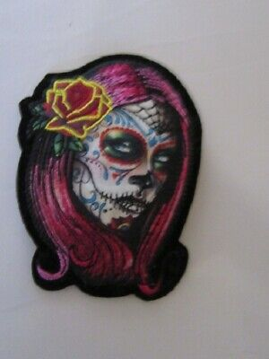 "Patch ecusson petit "" calavera ""  catrina  harley, moto; country, biker, usa"
