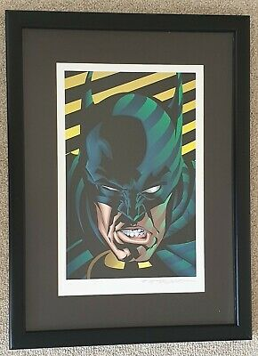 Batman ltd edition Lithograph - Brian Stelfreeze - Faces of the DC Universe RARE