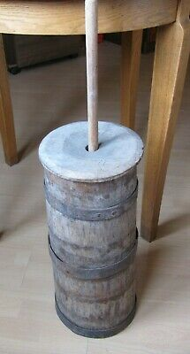Antique primitive solid wooden butter churn rustic Lithuania Europe 1800