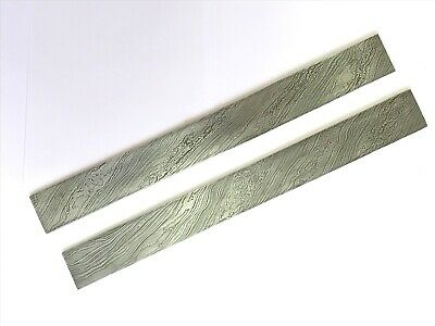 Hand crafted damascus steel bar 15 inches  lot of two