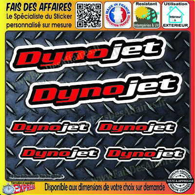 6 Stickers autocollant Dynojet performance planche sponsor tuning decal carenage