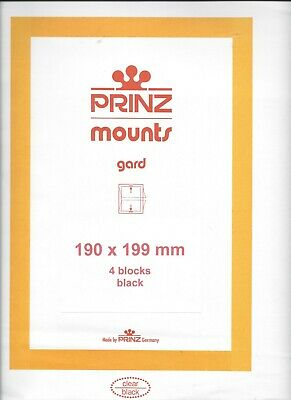 Package of 4 Prinz BLACK Mounts 190 x 199 (can also use 192 x 201) Legends, Etc.