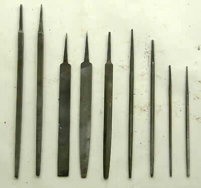 Job Lot of 9 Assorted Vintage 7.5 to 12 Inch Long Hand Files For Metal Working