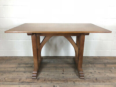 Antique Arts and Crafts Oak Dining Table or Kitchen Table - Delivery Available