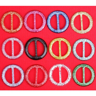 8pcs Round Buckle Lightweight Color Elegant DIY Buckles Clip Ring for Hats Scarf