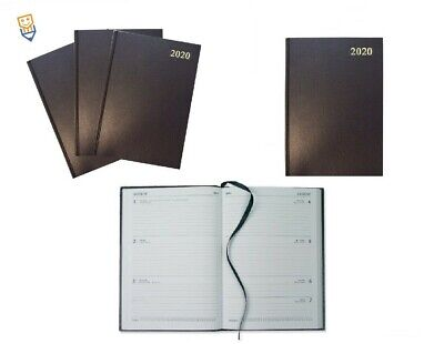 2020 DIARY A4 WEEK TO VIEW Hardback COLLINS Desk Appointment LARGE Diary BLACK