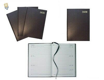 2020 A4 DAIRY WEEK TO VIEW Hardback GENUINE COLLINS Appointment Diaries BLACK