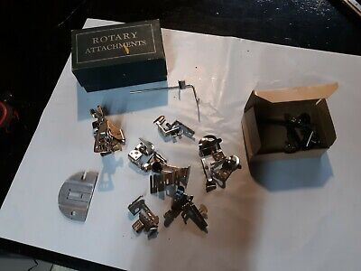 Vintage Lot of Singer Sewing Machine Attachments Used Original Boxes