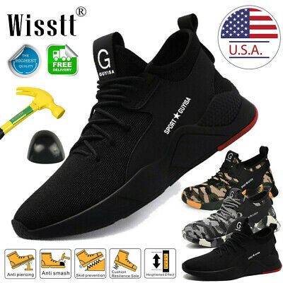 Mens Work Boots Safety Shoes Steel Toe Cap Sneakers Lightweight Hiking Sport USA