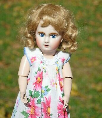 """Antique Jumeau 3 French Doll By Artist Connie Zink 10.75"""" Reproduction Cute"""
