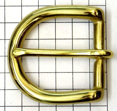 "Solid Brass Belt Buckle - New - Fits 1"" Wide Belt"