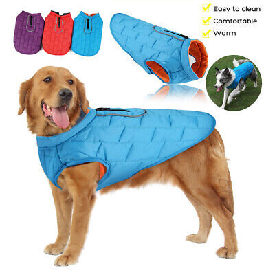 Dog Winter Waterproof Warm Padded Jacket Coats Clothes For Medium / Large Pet
