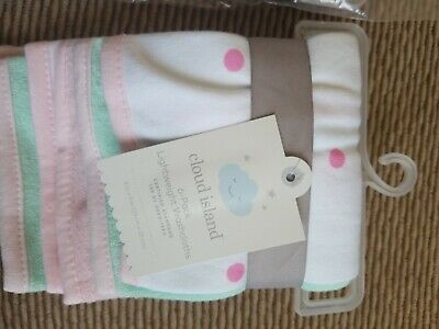 2 New Infant Cloud Island Pink Lightweight Washcloth 6 pack