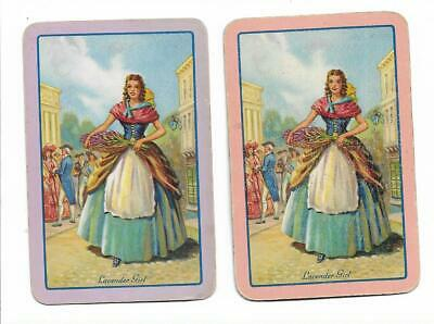 *Lavender Girl* X 2 Only Single Vintage E.n.n. Play/Swapcards..cries Of London