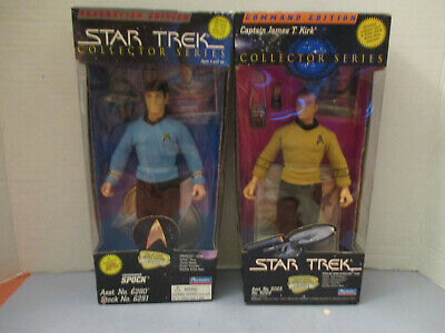 2 N MINT Star Trek Collector Series Capt.James T. Kirk - Commander Spock 1994