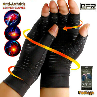Copper Compression Gloves Fit Arthritis Carpal Tunnel Hand Support Pain Relief G