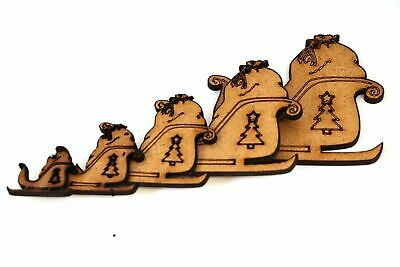 Wooden MDF Xmas Bells Shapes Bunting Craft Embellishments Christmas Decoration