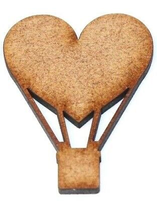 Wooden MDF Balloon Heart XL Wall Art Shapes Bunting Crafts Decorate yourself