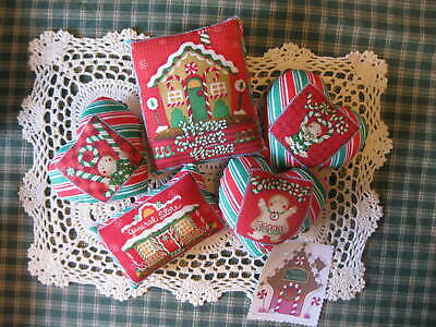 Primitive Christmas Gingerbread pillows bowl fillers, doll,ornie shelf sitter