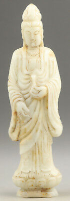 Old Chinese natural hetian jade hand-carved buddha guanyin 22cm  NO.F526