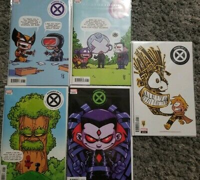 HOUSE OF X #5 6 + POWERS OF X #4 5 6 Skottie Young VARIANTS NM 1st prints
