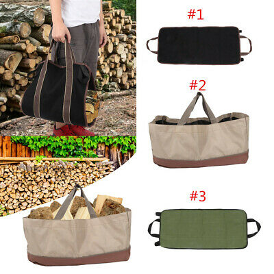 Portable Log Tote Bag Carrier Fireplace Fire Wood Carry Storage Package Holder