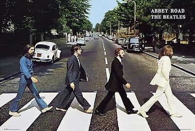 "THE BEATLES - ABBEY ROAD POSTER - CLASSIC ALBUM COVER - 91 x 61 cm 36"" x 24"""