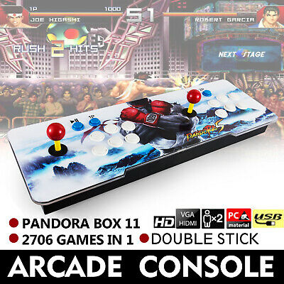 Pandora's Box 11 Retro Video Games Double Stick Arcade Console 2706 Games in 1