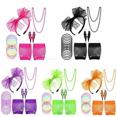 80's Neon Accessories for Dance Hen Stag Fancy Costume Accessories Kids, Women