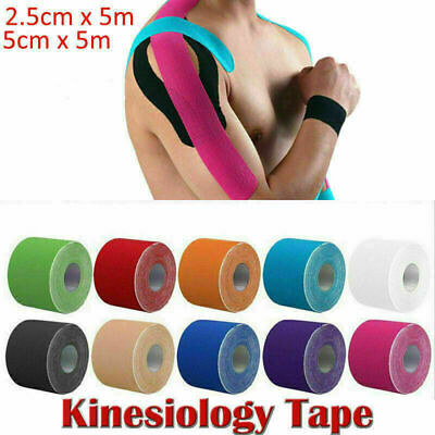 Sports Kinesiology Tape Elastic Physio Muscle Strain PRO Pain Relief Support KT