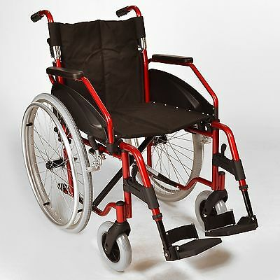 Lightweight folding self propelled wheelchair quick release wheels ECSP03 Used