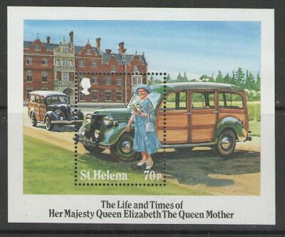 St.helena Sgms458 1985 Life & Times Of Queen Mother Mnh