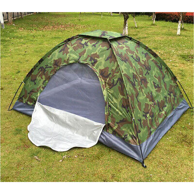 Camping Folding Tent Waterproof Outdoor 2/3-4 Person 4 Season Camouflage Hiking