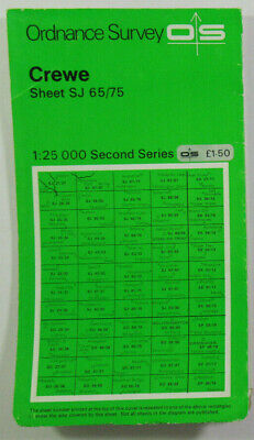 1974 Old OS Ordnance Survey Second Series 1:25000 Pathfinder Map SJ 65/75 Crewe