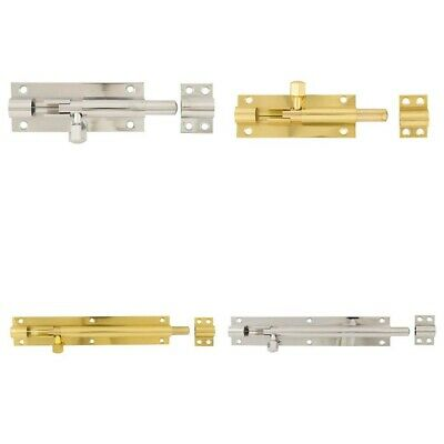 Straight Sliding Door Bolt Lock Latch Cupboard Shed Toilet - All Colours / Sizes