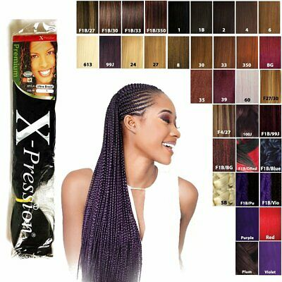 "5 Packs X-pression Xpression Expression 82"" Braiding Hair 2-3 day shipping"