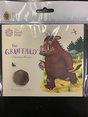 2019 Royal Mint The Gruffalo BU 50p Fifty Pence Coin Pack Sealed