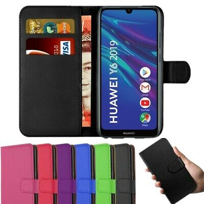 Case for Huawei Y6 Y7 P Smart 2018 2019 Leather Magnetic Flip Wallet Stand Cover