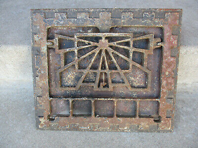 Vintage Furnace Cast Iron Ornate Art Deco Room Outlet Grille