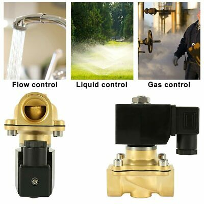 220V Electric Solenoid Valve Air Water Gas Oil Brass Normally Closed 2 Way N/C