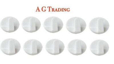 10 X Stick On Hanging Hooks UPVC Frame Self Adhesive Round Small White