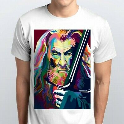 GEORDIE SHIRE MENS T SHIRT FUNNY LORD OF THE SHORE DESIGN RINGS GANDALF GAZ