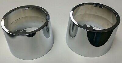 2003-2010 H2 Hummer SUV & SUT Chrome Billet Driving Light Bezels Hi-Quality