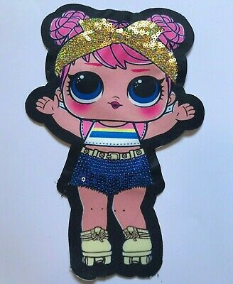 """LOL surprise doll Cartoon Sequined embroidery patch SEW IRON on 9 piece 3.5/""""x2/"""""""