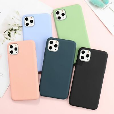 Silicone Case For iPhone 11 Pro Max Xs Max 8 7 Plus Soft Rubber Shockproof Cover