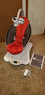 4Moms Mamaroo Baby Reclining Seat Swing in Classic Red and Gray