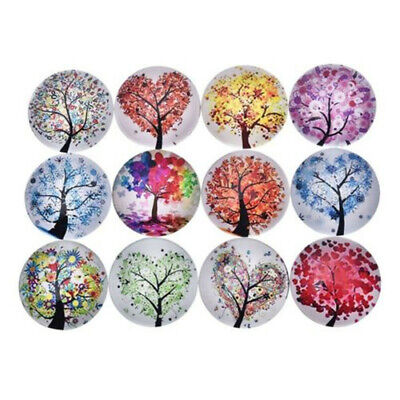 12 pcs Fridge Magnets Delicate Glass Tree of Life Refrigerator Magnet for Office
