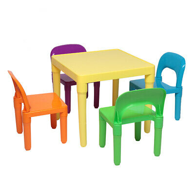 Pleasant Plastic Children Kids Table Chair Set 3 Piece Play Evergreenethics Interior Chair Design Evergreenethicsorg